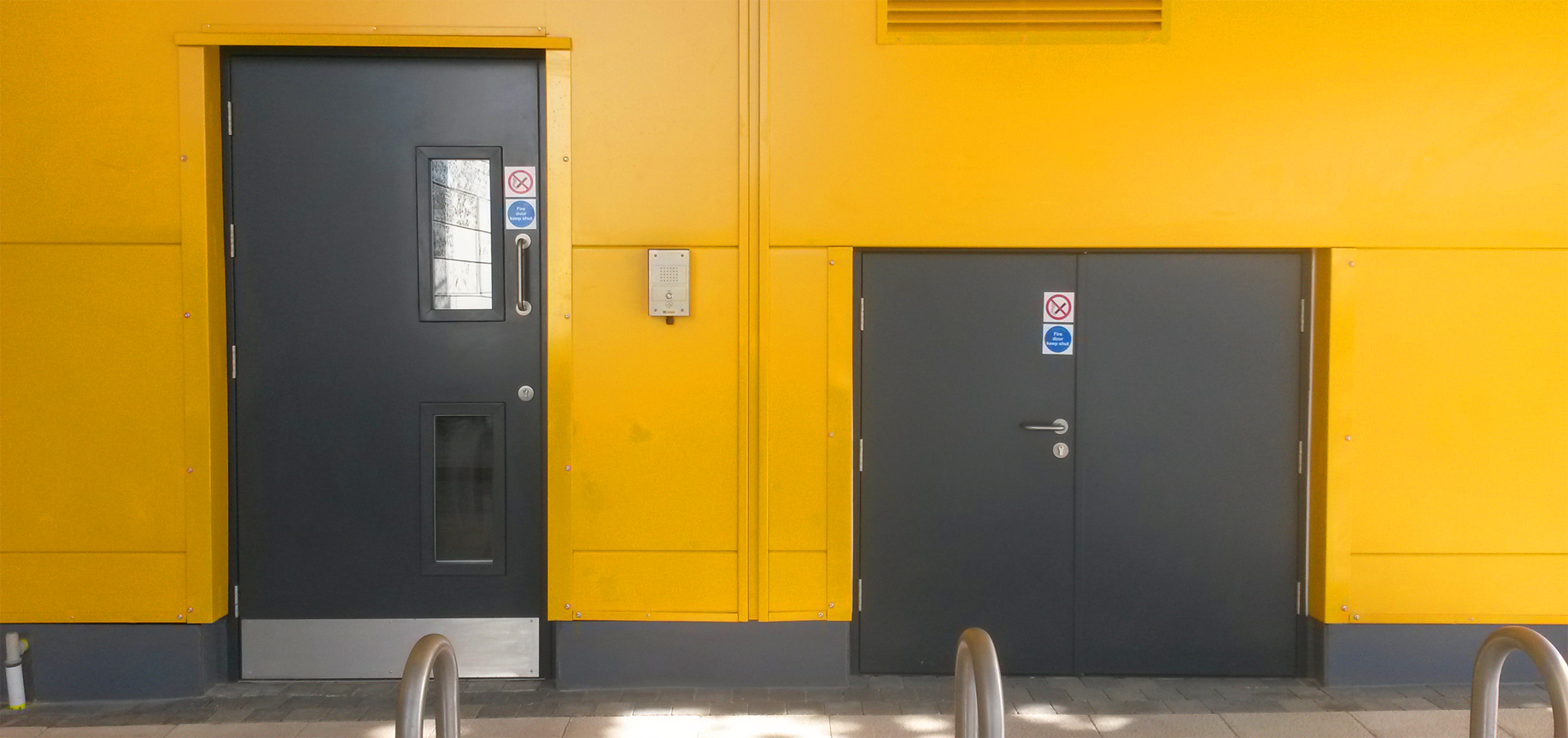 The door is manufactured from 1.5mm zintec steel as standard making it both strong and secure. & Design \u0026 Supply · Steel Personnel Doors